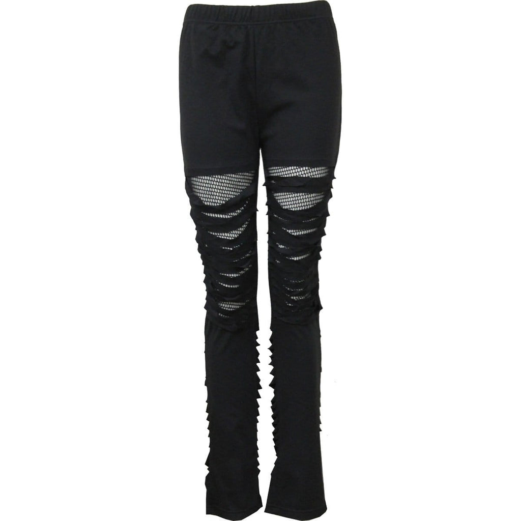 URBAN FASHION - Mesh Ripped Leggings - Spiral USA