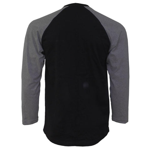 Image of URBAN FASHION - Raglan Contrast Longsleeve Charcoal Black - Spiral USA