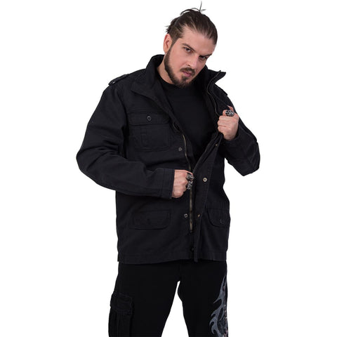 URBAN FASHION - Military Lined Jacket with Hidden Hood - Spiral USA