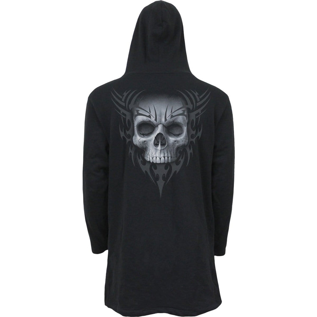 SOLEMN SKULL - Occult Hooded Cardigan - Spiral USA