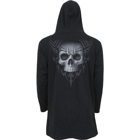 Image of SOLEMN SKULL - Occult Hooded Cardigan - Spiral USA
