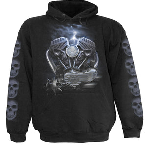 RIDE TO HELL - Hoody Black - Spiral USA