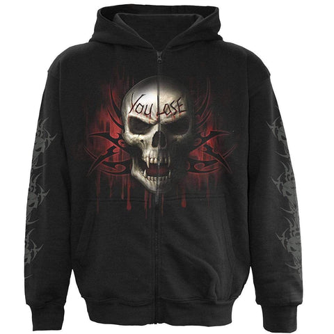 GAME OVER - Full Zip Hoody Black - Spiral USA
