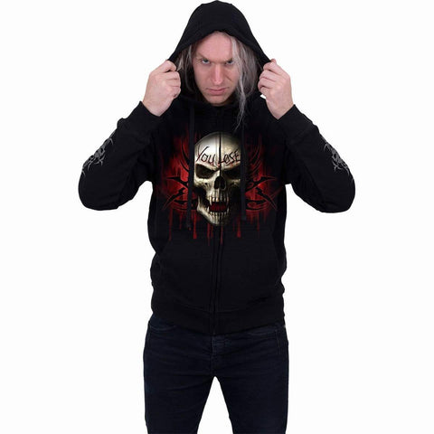 Image of GAME OVER - Full Zip Hoody Black - Spiral USA