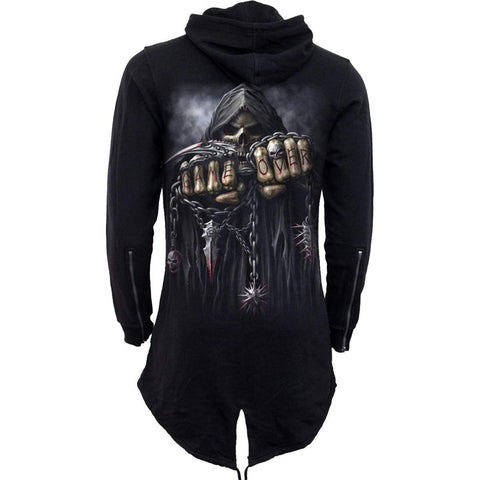 GAME OVER - Mens Fish Tail Zipper Hoody - Zip Sleeves - Spiral USA