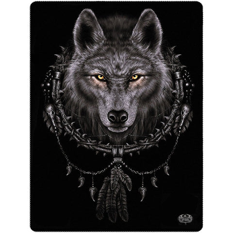 Image of WOLF DREAMS - Fleece Blanket - Spiral USA