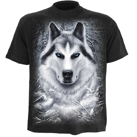Image of WHITE WOLF - T-Shirt Black - Spiral USA