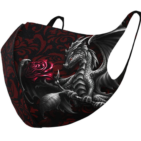 DRAGON ROSE - Face Mask - Spiral USA