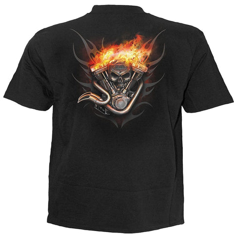 Image of WHEELS OF FIRE - T-Shirt Black - Spiral USA