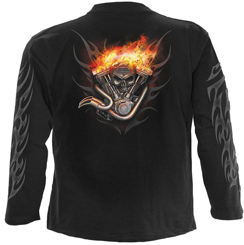 Image of WHEELS OF FIRE - Longsleeve T-Shirt Black - Spiral USA