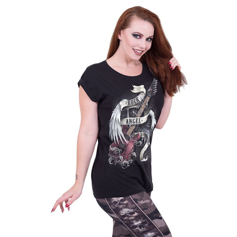 ROCK ANGEL - Turnup Sleeve Loosefit Tee