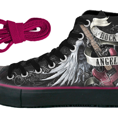 Image of ROCK ANGEL - Sneakers - Ladies High Top Laceup - Spiral USA