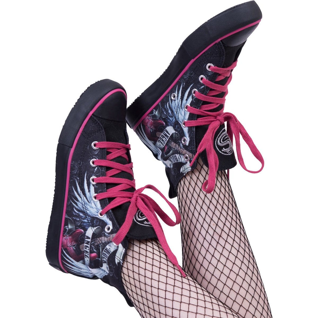 ROCK ANGEL - Sneakers - Ladies High Top Laceup - Spiral USA