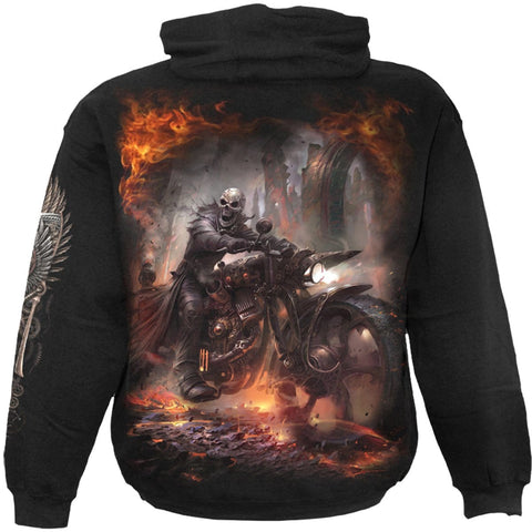 Image of STEAM PUNK RIDER - Hoody Black - Spiral USA