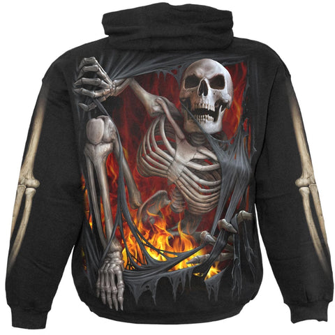 Image of DEATH RE-RIPPED - Kids Hoody Black - Spiral USA