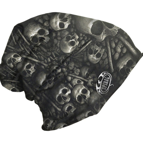 Image of CATACOMB - Light Cotton Beanies Black - Spiral USA
