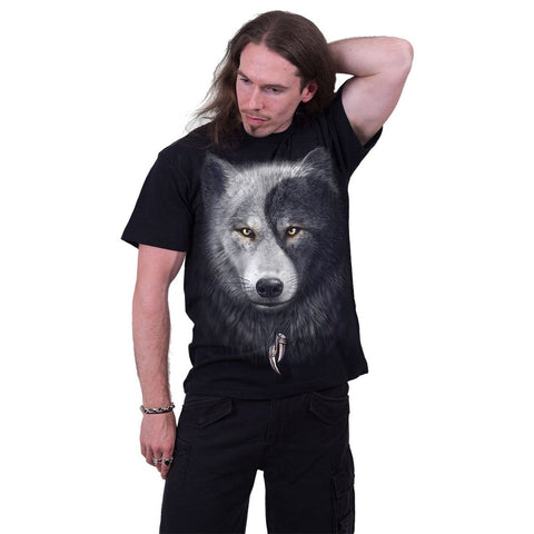Image of WOLF CHI - T-Shirt Black - Spiral USA
