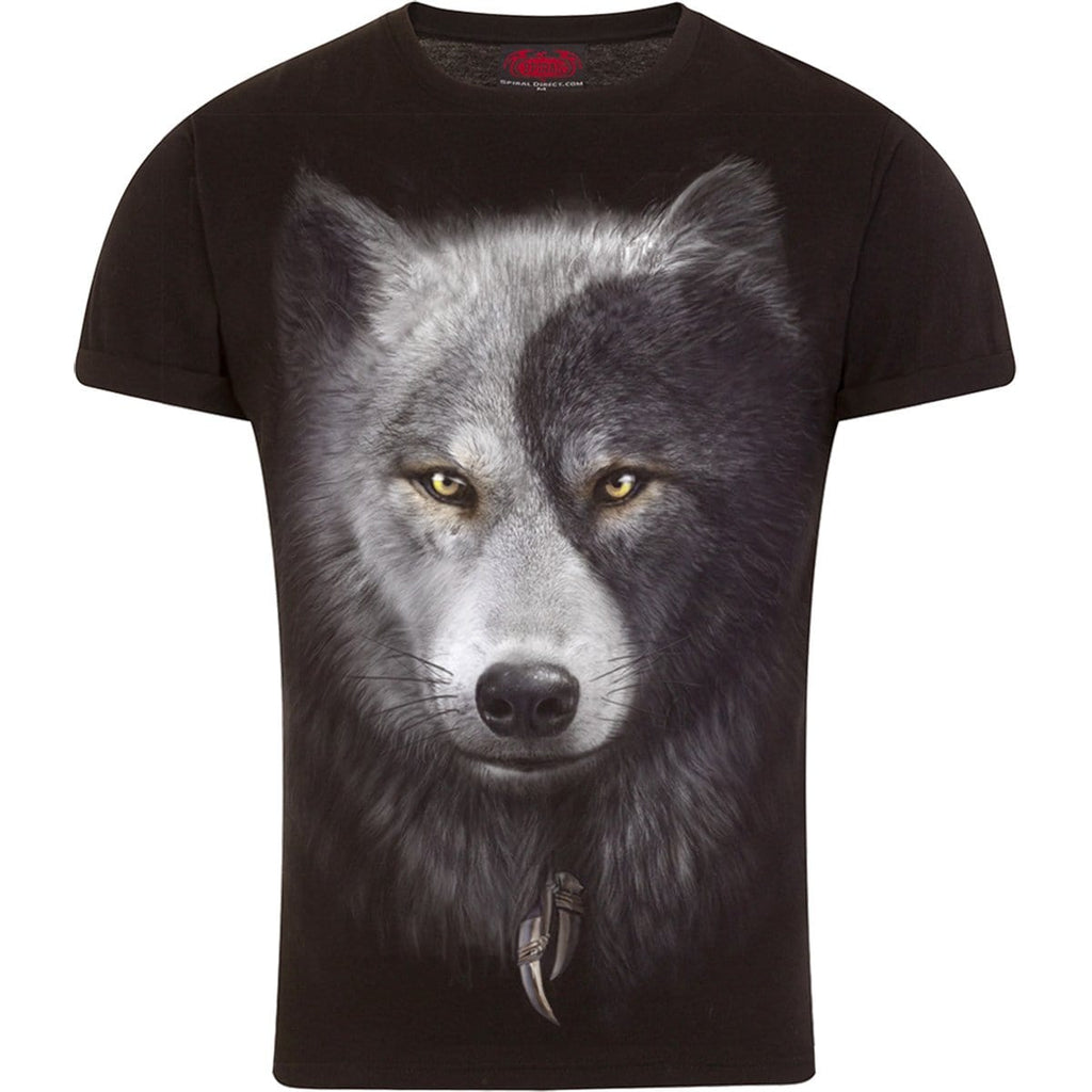 WOLF CHI - T-Shirt Modern Cut Turnup Sleeve Black - Spiral USA