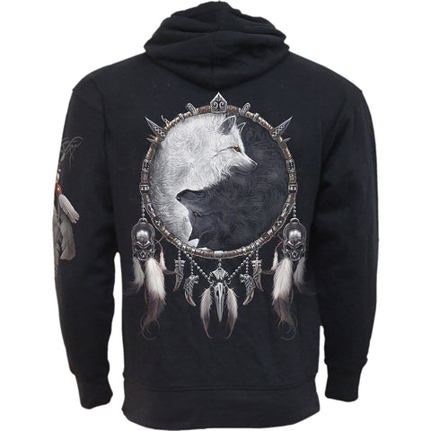 Image of WOLF CHI - Side Pocket Hoody Black - Spiral USA