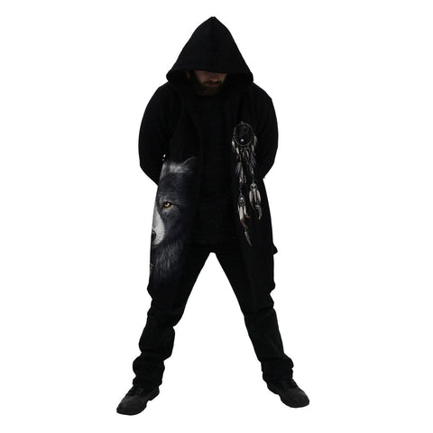 Image of WOLF CHI - Occult Hooded Cardigan - Spiral USA