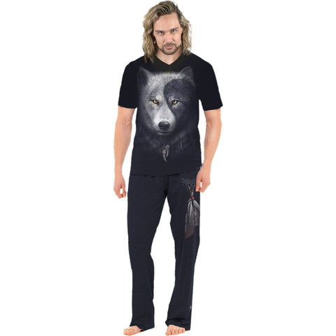 WOLF CHI - 4pc Mens Gothic Pyjama Set - Spiral USA