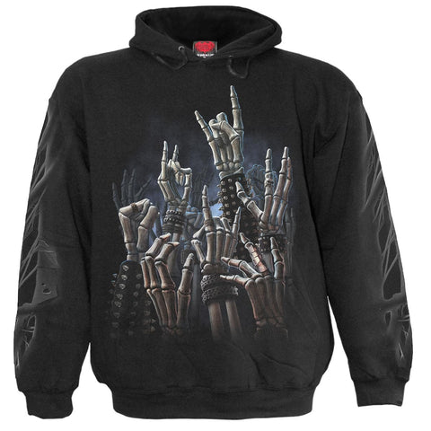 Image of ROCK ON - Hoody Black - Spiral USA