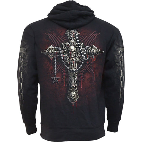 Image of DEATH BONES - Side Pocket Hoody Black - Spiral USA