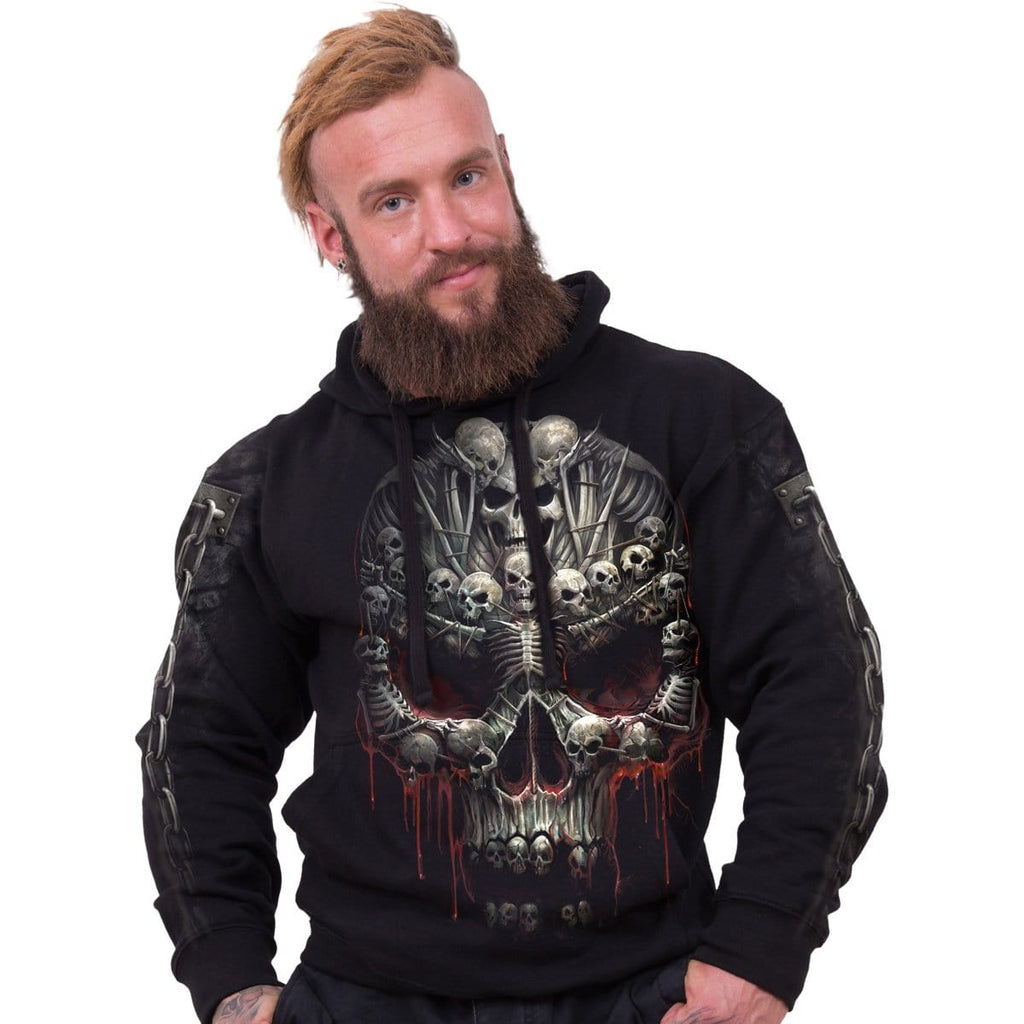DEATH BONES - Side Pocket Hoody Black - Spiral USA