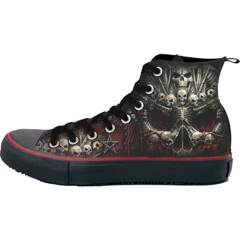 DEATH BONES - Sneakers - Men's High Top Laceup - Spiral USA