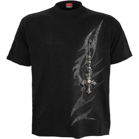 Image of TRIBAL CHAIN - T-Shirt Black