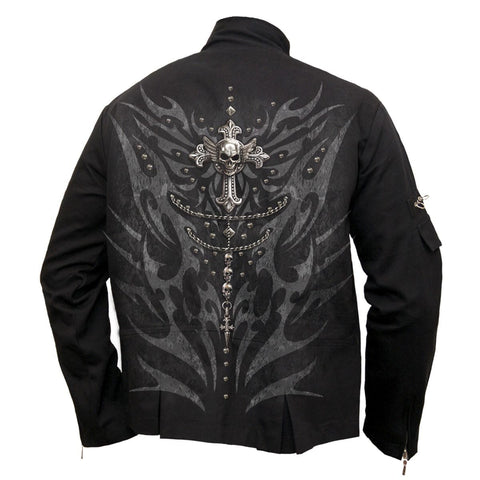 Image of TRIBAL CHAIN - Orient Goth Jacket Black - Spiral USA