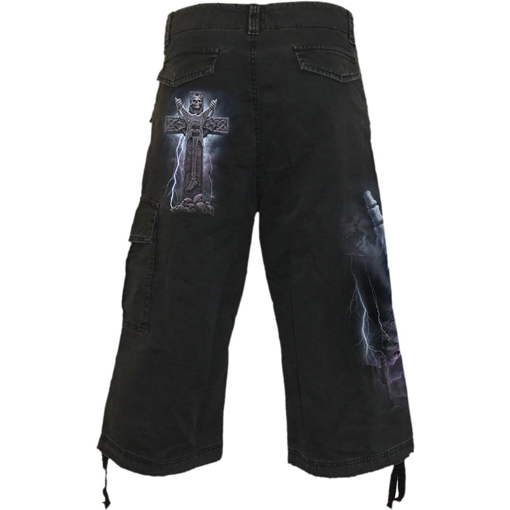 ROCK ETERNAL - Vintage Cargo Shorts 3/4 Long Black - Spiral USA