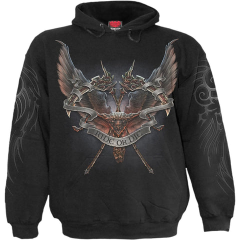 RIDE OR DIE - Hoody Black - Spiral USA