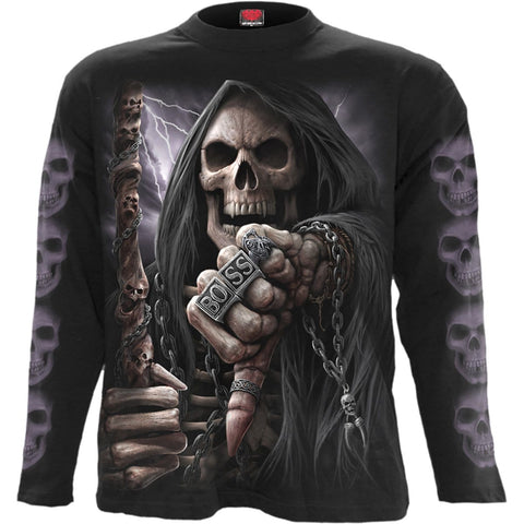Image of BOSS REAPER - Longsleeve T-Shirt Black - Spiral USA