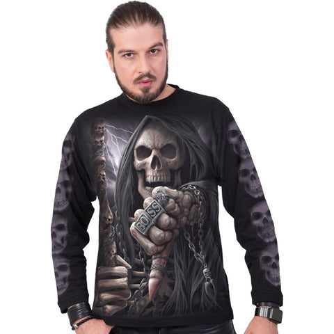 Image of BOSS REAPER - Longsleeve T-Shirt Black