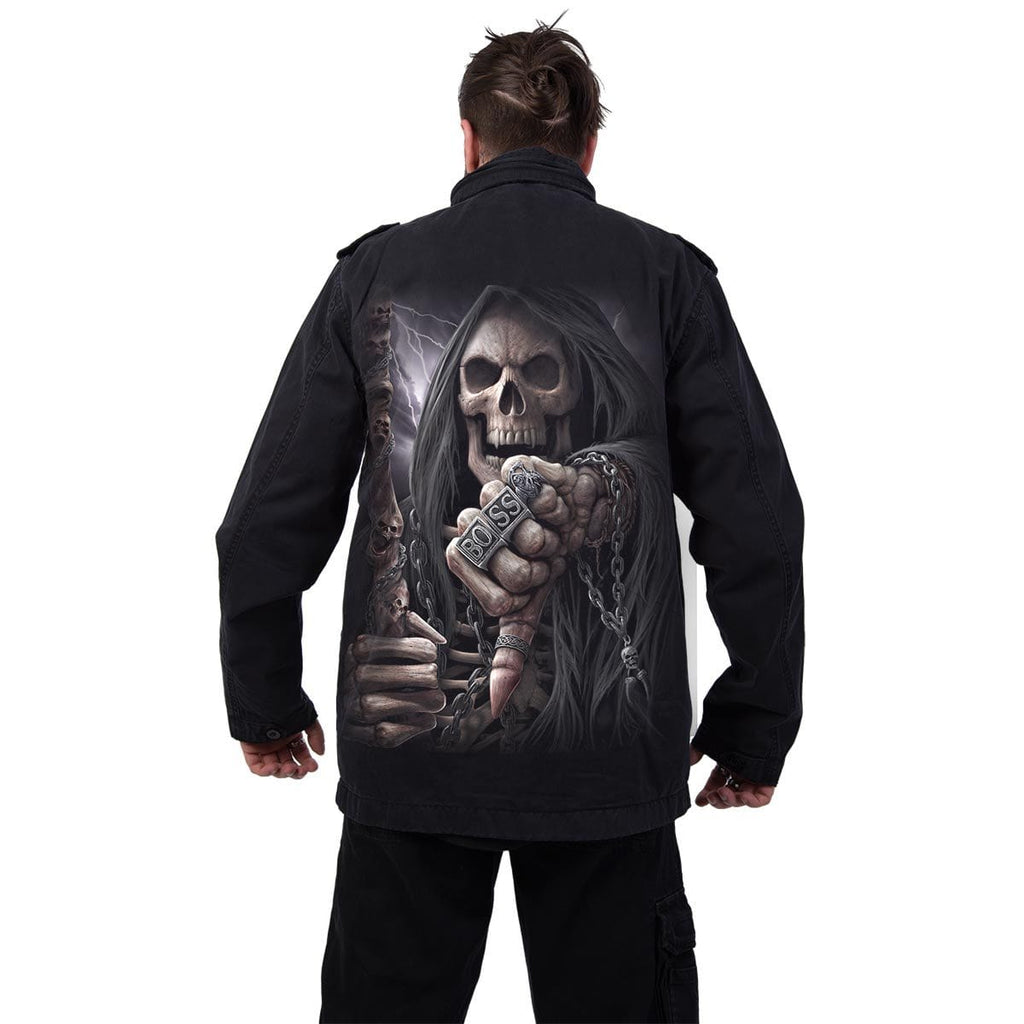BOSS REAPER - Military Lined Jacket with Hidden Hood - Spiral USA