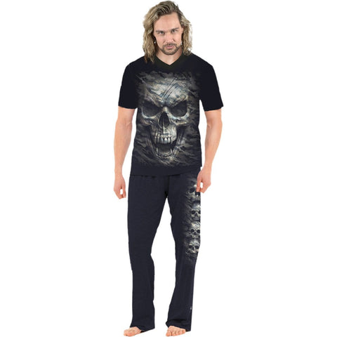 CAMO-SKULL - 4pc Mens Gothic Pyjama Set - Spiral USA