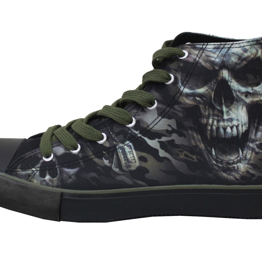 CAMO-SKULL - Sneakers - Mens High Top Laceup - Spiral USA