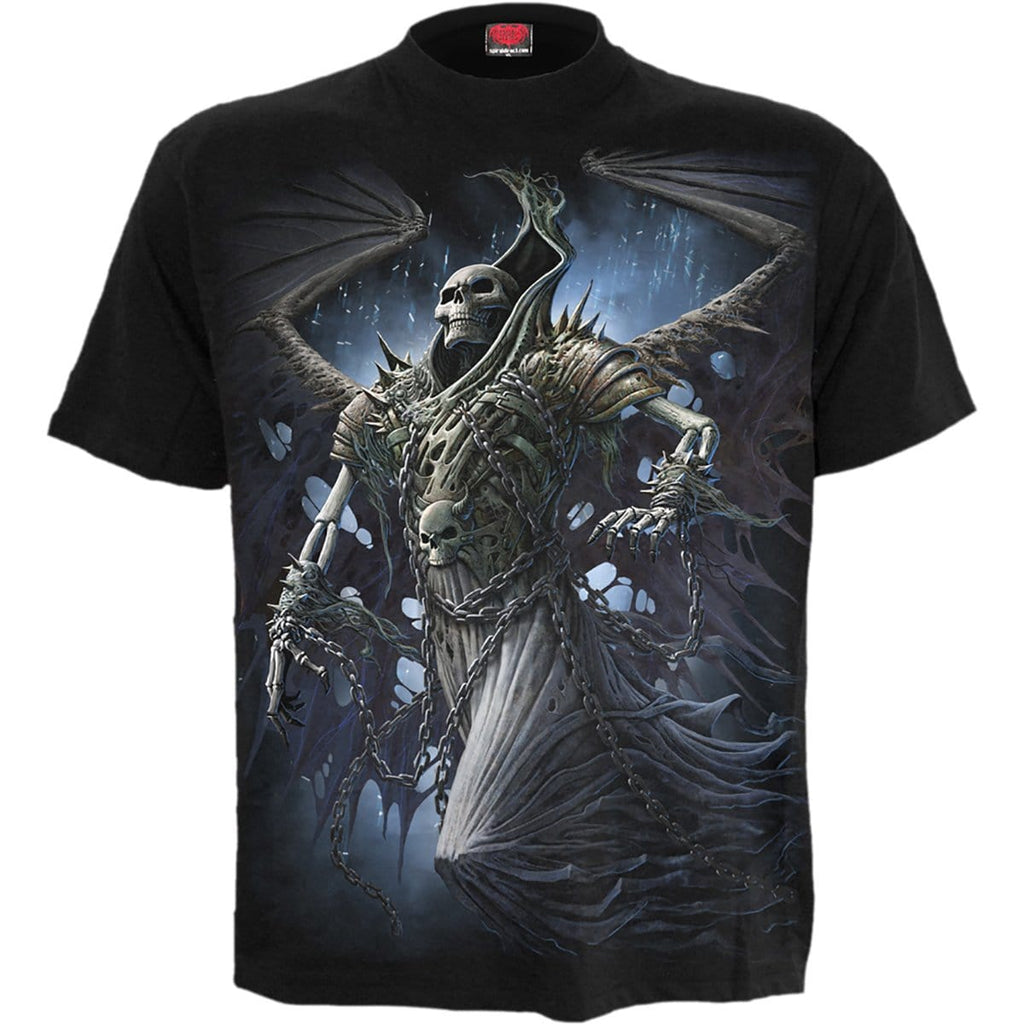 WINGED SKELTON - T-Shirt Black - Spiral USA