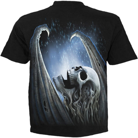 Image of WINGED SKELTON - T-Shirt Black - Spiral USA