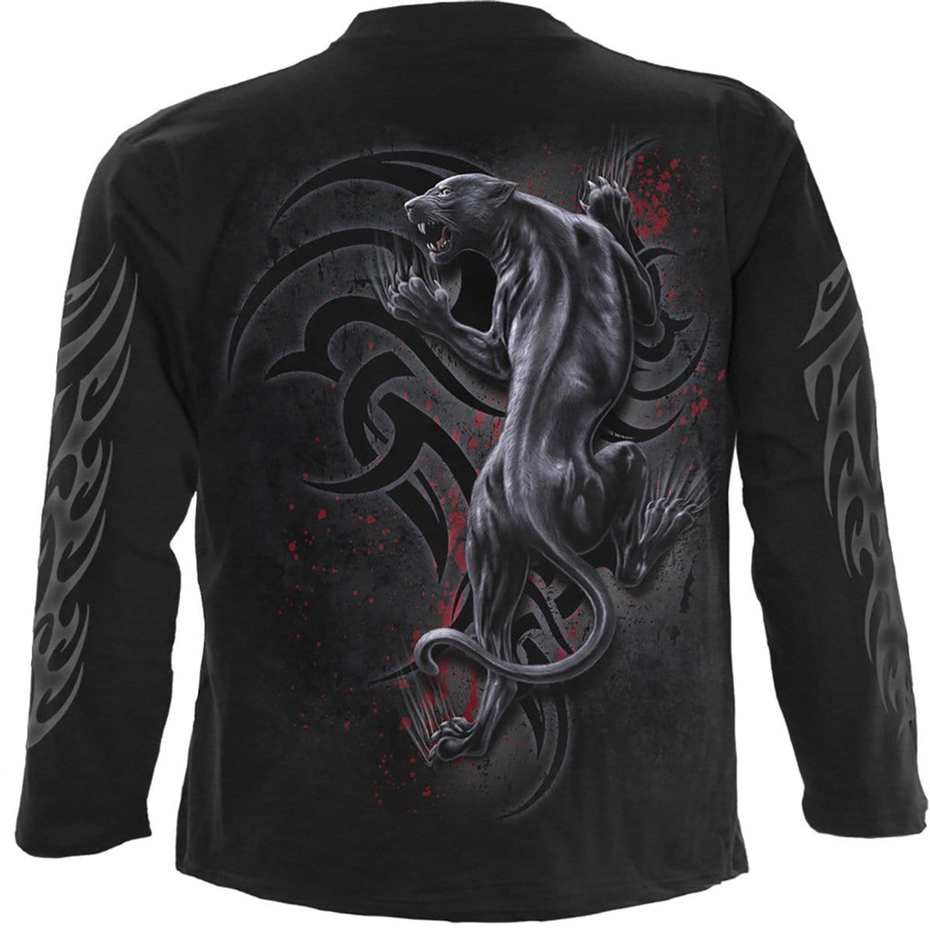 TRIBAL PANTHER - Longsleeve T-Shirt Black