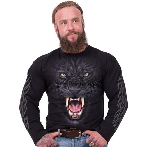 TRIBAL PANTHER - Longsleeve T-Shirt Black - Spiral USA