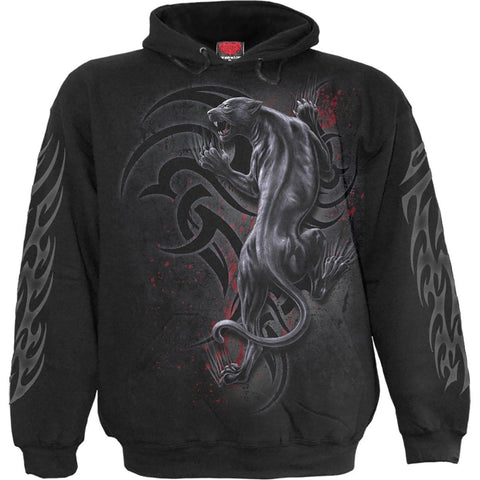 Image of TRIBAL PANTHER - Hoody Black - Spiral USA