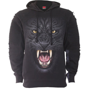 TRIBAL PANTHER - Premuim Biker Fashion Mens Hoodie - Spiral USA