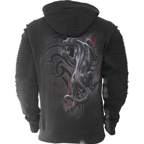 Image of TRIBAL PANTHER - Premuim Biker Fashion Mens Hoodie - Spiral USA