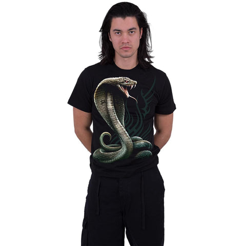 SERPENT TATTOO - Front Print T-Shirt Black - Spiral USA