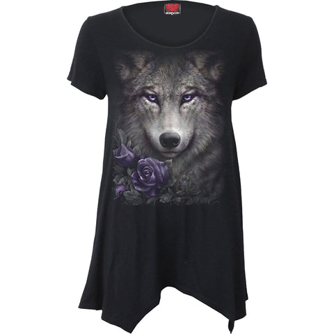 Image of WOLF ROSES - Smock - Tunic Casual Top - Spiral USA