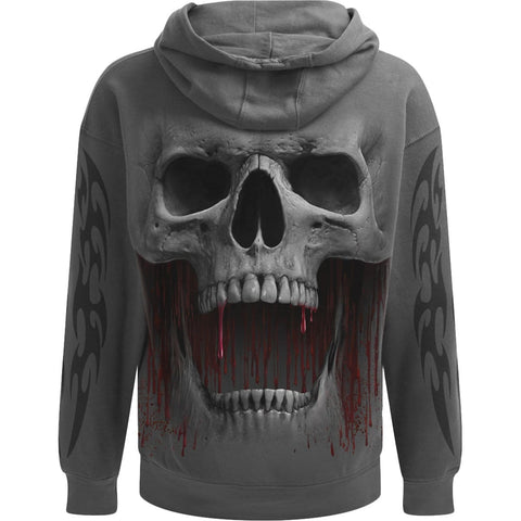 Image of DEATH ROAR - Hoody Charcoal - Spiral USA