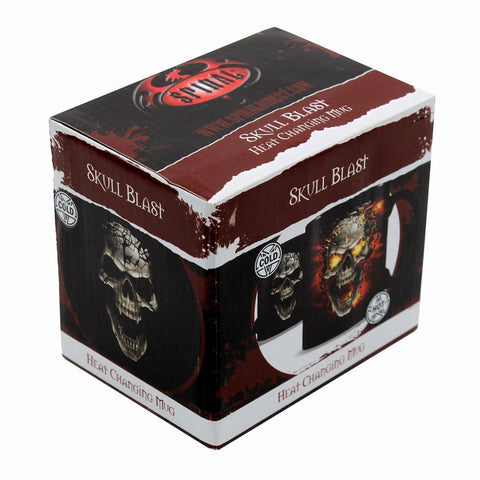 SKULL BLAST - Heat Change Ceramic Coffee Mug - Gift Boxed - Spiral USA