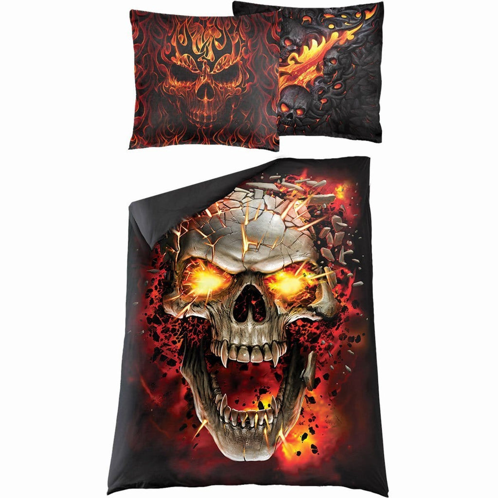 SKULL BLAST - Single Duvet Cover + UK And EU Pillow case - Spiral USA